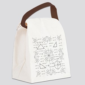Trig and Triangles Canvas Lunch Bag
