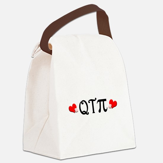 qtpiheart.png Canvas Lunch Bag
