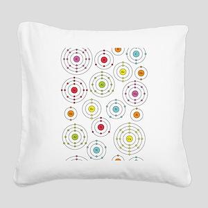 periodic shells fabric Square Canvas Pillow