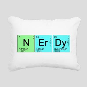nerdy_color_bk Rectangular Canvas Pillow