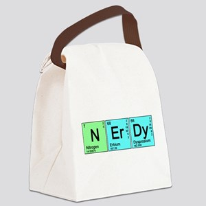 nerdy_color_bk Canvas Lunch Bag
