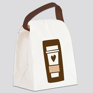 latte Canvas Lunch Bag