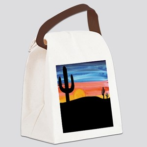 sunset_painting Canvas Lunch Bag