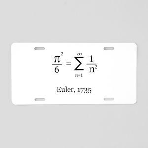 Eulers Formula for Pi Aluminum License Plate