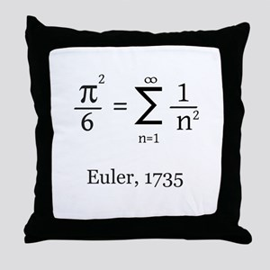 Eulers Formula for Pi Throw Pillow