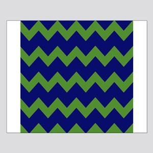 Blue Green Chevrons Small Poster