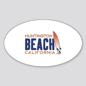 Huntington Beach Sticker (Oval)