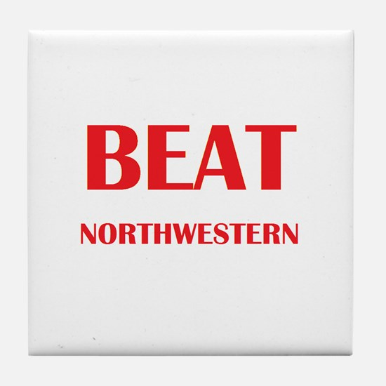 Beat Northwestern Tile Coaster