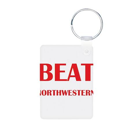 Beat Northwestern Aluminum Photo Keychain