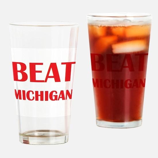 Beat Michigan Drinking Glass