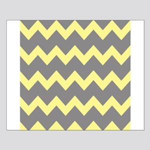 Yellow Gray Chevrons Small Poster