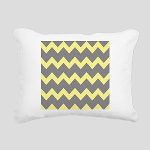 Yellow Gray Chevrons Rectangular Canvas Pillow