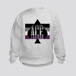 90fea8cf307 Asexual Flag Kids Hoodies   Sweatshirts - CafePress