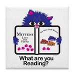 Reading Kitten Tile Coaster