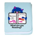 Reading Kitten baby blanket