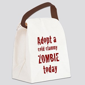 Adopt a cold clammy ZOMBIE today Canvas Lunch Bag