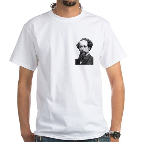 Charles Dickens 13 White T-Shirt
