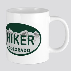Hiker Colo License Plate Mugs