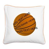 Personalized basketball Square Canvas Pillows