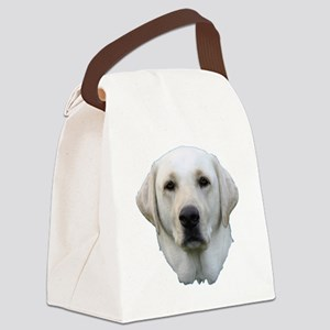 White lab 3 Canvas Lunch Bag
