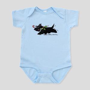 Scottie Candy Cane Infant Bodysuit