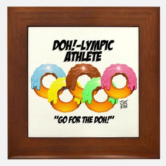 """""""DOH!-LYMPIC ATHLETE"""" Framed Tile"""