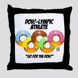 """DOH!-LYMPIC ATHLETE"" Throw Pillow"
