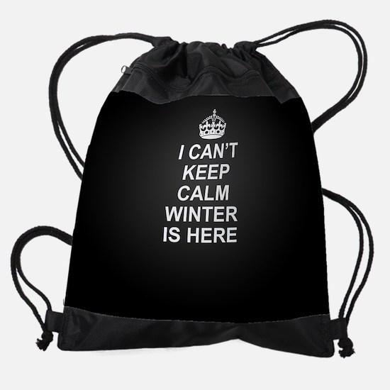 Keep Calm Winter Is Here Drawstring Bag