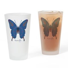 Togetherness Butterfly Drinking Glass