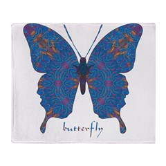 Togetherness Butterfly Throw Blanket