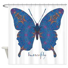 Togetherness Butterfly Shower Curtain