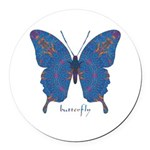 Togetherness Butterfly Round Car Magnet