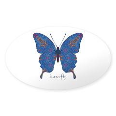 Togetherness Butterfly Sticker (Oval)