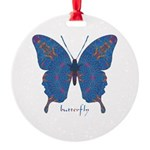 Togetherness Butterfly Round Ornament