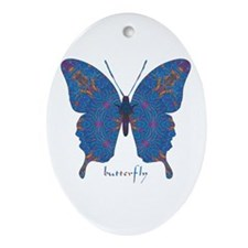 Togetherness Butterfly Ornament (Oval)