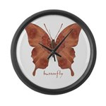 Beloved Butterfly Large Wall Clock