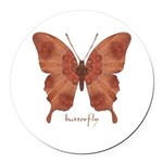Beloved Butterfly Round Car Magnet