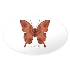 Beloved Butterfly Sticker (Oval)