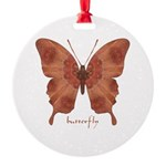 Beloved Butterfly Round Ornament