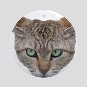 FACE01 Cat face Ornament (Round)
