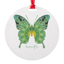 Miracle Butterfly Round Ornament