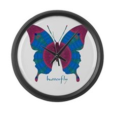 Salvation Butterfly Large Wall Clock