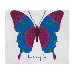 Salvation Butterfly Throw Blanket