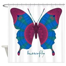 Salvation Butterfly Shower Curtain