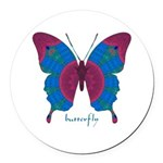 Salvation Butterfly Round Car Magnet