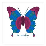 Salvation Butterfly Square Car Magnet 3