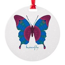 Salvation Butterfly Round Ornament