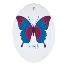 Salvation Butterfly Ornament (Oval)