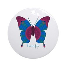 Salvation Butterfly Ornament (Round)