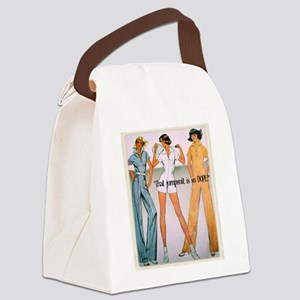 Jumpsuit Canvas Lunch Bag